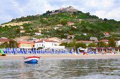 La spiaggia e la collina con Silvi alta #Silvi #Abruzzo #Italy #nature