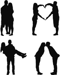 Vectores libres de derechos: Silhouette of a romantic couple