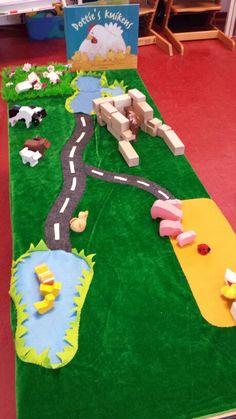 Verteltafel Dottie's kuikens Literacy Bags, Block Area, Preschool Arts And Crafts, Farm Theme, Sensory Play, Farm Animals, Kids Rugs, Spring, Projects