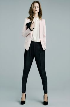 i love the heels and the blazer.. i almost like the pants.