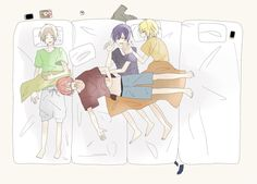 Vocaloid, Kaito, Manga, Akatsuki, Anime Guys, Chibi, Fan Art, Artwork, Cute