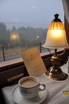 Coffee on a luxury train, anyone?