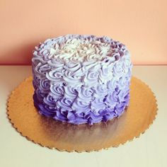 Purple ombre rosettes by 2tarts Bakery / New Braunfels, Texas / www.2tarts.com