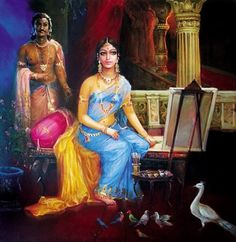 K N Ramachandran's Life of Color » Paintings and Art Gallery » Women