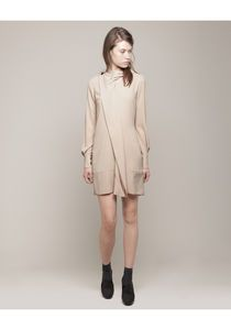 viktor & rolf | drape collar crepe dress