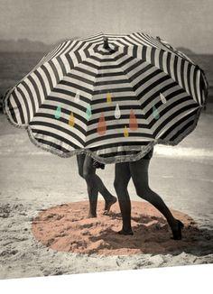 Parasol, Greta Garbo on vacation / © (Ma + Chr )