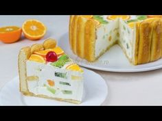 Reteta Tort diplomat - JamilaCuisine - YouTube Romanian Desserts, Romanian Food, Romanian Recipes, Sweets Recipes, Cake Recipes, Cooking Recipes, Birthday Cake Decorating, Lava Cakes, Gastronomia