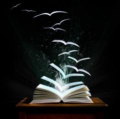 ":) - Mysteries of Reading: Only readers know how pages can take flight, and how time flies with each ""Away we go"" ~:^)>"
