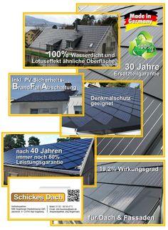 Solardach = neues Dach + Photovoltaik + Heizung + Isolierung bei Wärme- und Kälte --> http://baufux24.com/solardach-mit-integrierte-photovoltaik-technik-produziert-eigenen-strom-und-schuetzt-das-haus/
