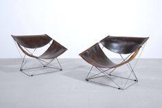 Pierre Paulin pair of F-675 easy chairs Artifort 1963