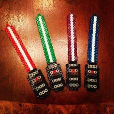 HAMA PERLER BEADS / PERLES À REPASSER / STRIJKPARELS - Star Wars Lightsabers perler beads by jazzywallets