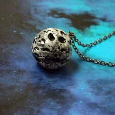 Moon necklace  Space necklace  Planet jewelry  by DarkFireHandmade