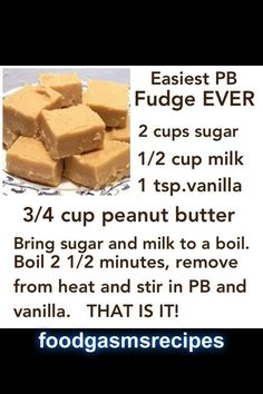 Easiest Peanutbutter fudge EVER | FoodGasms Recipes