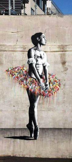 El arte de Argentina será una fuente de inspiración. En este pintura una bailarina se expresa. Es interesante que la figura haya bailado.