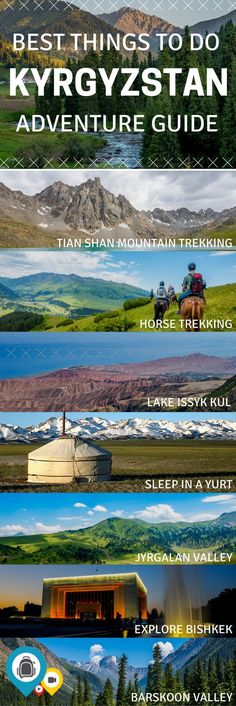 The ultimate guide to adventure travel in Kyrgyzstan, an offbeat Central Asia destination known for its beautiful mountains, diverse culture, and rich cuisine. 10 of the best things to do when visiting the country. | | Back-packer.org #Kyrgyzstan #Travel