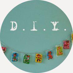 dekleurvangeluk: DIY 3/52: Slinger van poëzieplaatjes Diy Paper, Washi Tape, Diys, Van, Bricolage, Do It Yourself, Vans, Homemade, Diy