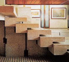 Carlo Scarpa. Olivetti Showroom, Venecia. Stairs.