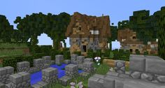 #minecraft #buildings #simple #fantasy #lollyherz #village #house #garden #steampunk #build #fantasygarden #pond