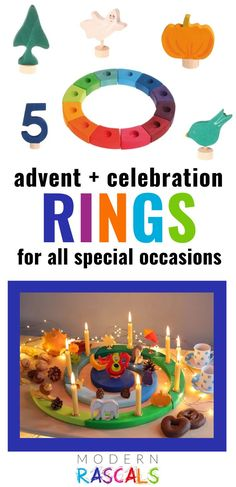 Of German origins, the celebration ring is an awesome and fun way to commemorate birthdays, holidays and special events. For birthdays, the ring can be decorated with Grimms decorative wooden figurines,  flowers and candles with the number of candles corresponding to the child's age. This Grimms natural organic wooden ring makes a great family tradition. Note that the celebration ring is NOT a toy. #Grimms #birthday #adventspirals #woodendecor #wooden Grimm's Toys, Baby Toys, Kids Toys, Traditions To Start, Family Traditions, Wooden Figurines, Wooden Toys, Special Events, Special Occasion