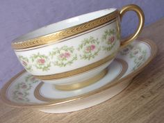 Delightful Antique 1890u0027s JPL Limoges France Tea Cup And Saucer Set, Pink Roses Tea  Cup, Awesome Ideas