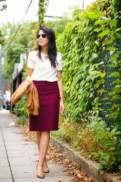 closet de jules: Color Me Fall - J.Crew Keating Boy Blazer and No.2 Pencil Skirt   A style and travel blog