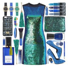 """""""HOMECOMING"""" by shoaleh-nia ❤ liked on Polyvore featuring Shoshanna, Yves Saint Laurent, Boohoo, Urban Decay, MAC Cosmetics, Diana Vreeland Parfums, Journee Collection, Karl Lagerfeld, Trina Turk and Alexis Bittar"""