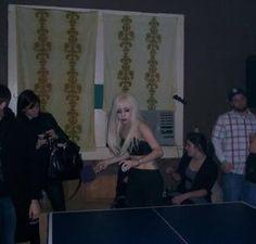 Lady GaGa singer ping pong