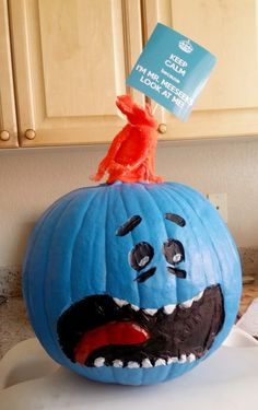 mr. meeseeks,R&M Персонажи,Rick and Morty,Рик и Морти, рик и морти, ,фэндомы,Хеллоуин,Halloween -приколы на хеллоуин - прикольные костюмы, тыквы, шутки и юмор про хелоуин