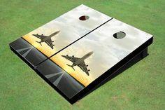 Jet sunset #2 Theme Cornhole Boards