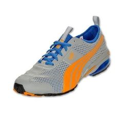 New Puma 186521 05 Cell Turin III Grey Orange Men's Running Shoes Size 8.5 US