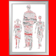 NEW DAD WITH SON AND DAUGHTER WORD ART PERSONALISED GIFT FOR HIM ON FATHER S DAY