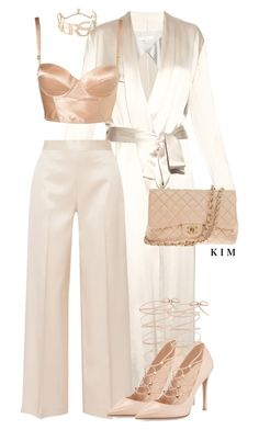 Apr 2018 - A fashion look from May 2016 by kimberlythestylist featuring Galvan, The Row, Valentino, Chanel and Versace Pastel Outfit, Dressy Outfits, Stylish Outfits, Fashion Outfits, Clueless Outfits, Evening Outfits, Classy Casual, Professional Outfits, Elegant Outfit