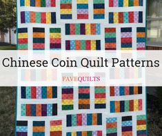 If you love classic quilts, then you will adore this collection of coin quilt patterns! Amish Quilt Patterns, Layer Cake Quilt Patterns, Strip Quilt Patterns, Mug Rug Patterns, Strip Quilts, Quilting Tutorials, Quilting Projects, Quilting Designs, Traditional Quilt Patterns