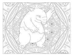 Free Printable Pokemon Coloring Page Drowzee Visit Our For More Fun All Ages Adults And Children