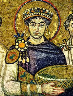 Justinian I traditionally known as Justinian the Great, was a Byzantine (East Roman) emperor from 527 to mosaic of Justinian I in Basilica of San Vitale, Ravenna, Italy) Ravenna Mosaics, Byzantine Art, Byzantine Mosaics, Hagia Sophia, Medieval Art, Ancient Romans, Christian Art, Roman Empire, Ravenna