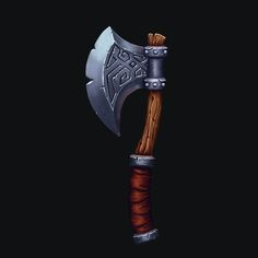 Stylised Viking Axe - Revisit, Harry Stringer on ArtStation at https://www.artstation.com/artwork/9kwXa