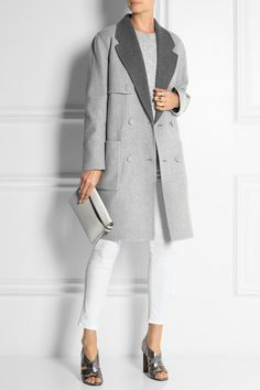 ALEXANDER WANG Reversible wool-blend coat: FOUR LOOKS IN ONE