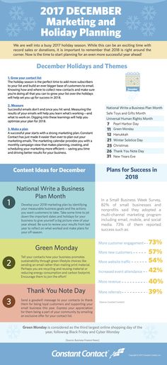 [Infographic] December 2017 Marketing and Holiday Planning Social Media Marketing Business, Email Marketing Strategy, Online Marketing, Digital Marketing, Marketing Ideas, Content Marketing, Social Media Analysis, Email Campaign, Social Media Site