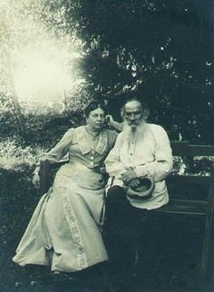 Leo and Sophia Tolstoy at Yasnaya Polyana