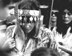 "p-a-l-l-e-n-b-e-r-g: "" A pregnant Anita Pallenberg among others at The Rolling Stones' Hyde Park Concert, which was held three days after the death of Brian Jones, July "" Boho babes! Anita Pallenberg, Bianca Jagger, Charlotte Rampling, Twiggy, Alexa Chung, Headdress, Headpiece, Ibiza, She's A Rainbow"