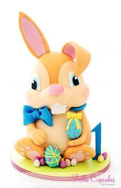 ...Bella Cupcakes - easter bunny topper♥♥