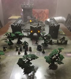 Hobgoblins have made a dilapidated fort into their stronghold. #dnd #dungeonsanddragons #dwarvenforge #pathfinderrpg