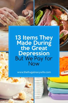 Did you know there are many items then made during the Great Depression and we now buy? Head back to basics with these items to save money on items like.... #frugalnavywife #frugaldiy #frugalliving #greatdepression | Saving Money | Great Depression Hacks | How to Save Money | Frugal Living | Frugal Living Tips Ways To Save Money, Money Tips, Money Saving Tips, Great Depression, Navy Wife, Frugal Living Tips, Homemaking, Yummy Food, Hacks