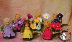 Primeln Blumenkinderwerkstatt - Blumenkinder für den Jahreszeitentisch