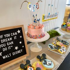 Vintage First Birthday, First Birthday Sign, 2nd Birthday Party Themes, Park Birthday, Gold Birthday Party, Birthday Party Decorations, Disney World Birthday, Disneyland Birthday, Disney Princess Birthday Party
