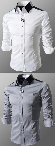 Men's Formal Going out Work Simple Cute Street chic All Seasons Shirt