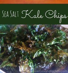 Sea Salt Kale Chips #kale #kalechips