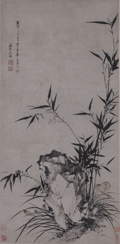 ZHANG QIA Three Friends of the Winter hanging scroll, ink on paper 108x53cm (42 1/2x20 4/5 in) Estimated Price: HK$500,000–HK$800,000