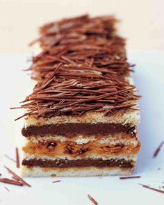Genoise Torte with Chocolate- and Praline-Caramel Mousses Recipe