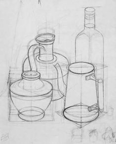 Resultado de imagem para desenhos natureza morta Pencil Sketch Drawing, Basic Drawing, Drawing Lessons, Drawing Techniques, Pencil Drawings, Art Lessons, Bottle Drawing, Geometric Drawing, Still Life Drawing